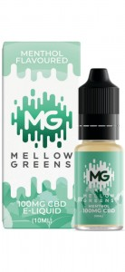 E-liquid CBD MELLOW GREENS MENTHOL 100mg, 10ml