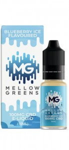E-liquid CBD MELLOW GREENS BLUEBERRY ICE 100mg, 10ml